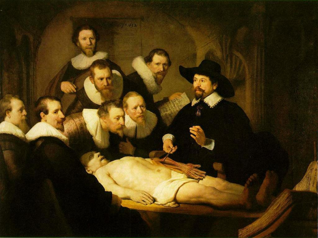 Lección de anatomía Rembrandt