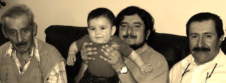 Manuel, Miguel, Luis y Luis.