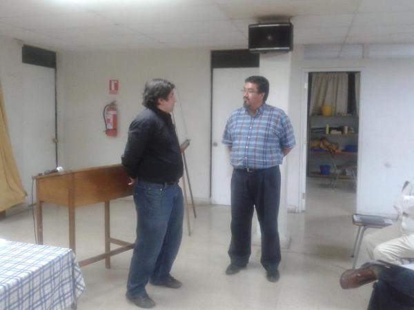 El Pr. Vladimir Pacheco comunicándome la aprobación de mi candidatura al Sagrado Ministerio y de que el sería mi tutor eclesiástico.
