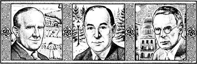 J.R.R. Tolkien, C.S. Lewis, Charles Williams. Tres amigos.
