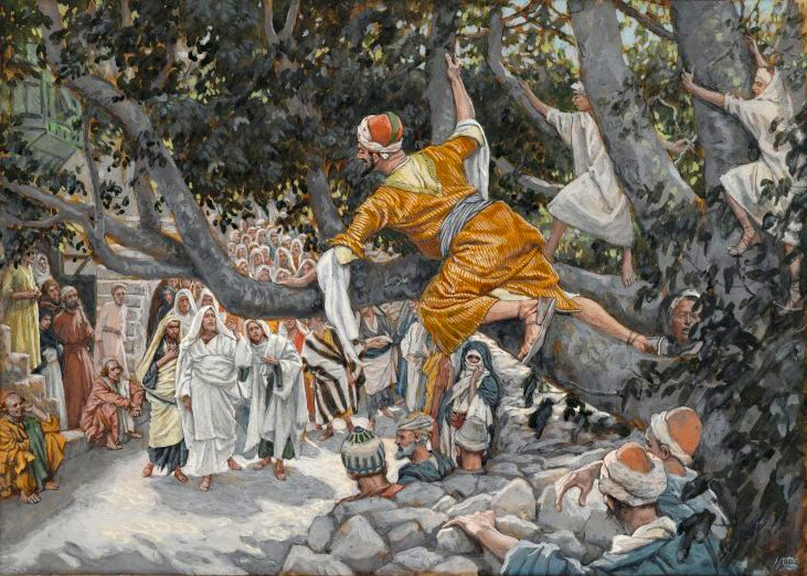 Brooklyn_Museum_-_Zacchaeus_in_the_Sycamore_Awaiting_the_Passage_of_Jesus_(Zachée_sur_le_sycomore_attendant_le_passage_de_Jésus)_-_James_Tissot